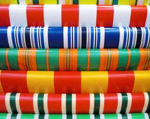 Color striped cloth